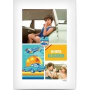 Optimalprint Kollageposter, 1 st, bil, collage, färgrik, retro, vit ram, blå, orange, röd, sommar, vit, gul, Optimalprint