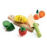 DJECO Drewniane warzywa do krojenia - zestaw warzyw z deską i nożem