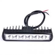 AST Works 18W 6 LED Spot Light Bar Driving Work Lamp White for Off-Road SUV Van Truck 12V