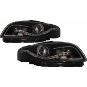 Faruri LED DRL Xenon Look compatibil cu AUDI A4 B7 2004-2008 Negru