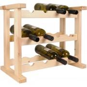 Wijnrek hout - 12 flessen - 53,8 x 30 x 40 cm