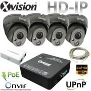 IP Kamerový systém 4x Full HD IP dome kamera + NVR