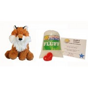 Make Your Own Stuffed Animal Mini 8 Inch Super Fluffy Fox Kit - No Sewing Required!