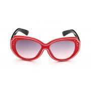 Piros keretes, fekete száras napszemüveg