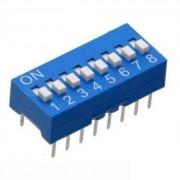 Life Dip Switch 8 Poli Per Circuiti Stampati Passo 2,54 Mm Tcs
