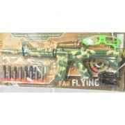 Military Long Air-Gun with 8 Shooting Bullets for Boys and Girls (Multicolor)