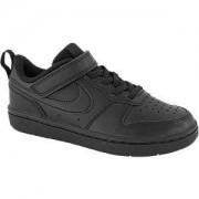 Nike Zwarte Court Borough Low 2 33