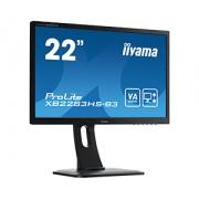 iiyama 21,5' 1920x1080, 13cm Height Adj. Stand, Pivot, 250cd/m², Speakers, DisplayPort, HDMI, VGA, 4ms