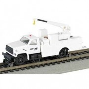 Bachmann Industries Maintenance of Way Hi Rail Equipment Truck with Crane DCC Equipped Painted Unlet