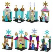 8 Unids Princesa Anna Elsa Olaf Kristoff Castillos De Hielo Building Blocks Amigos Figuras Juguetes Compatible Con Lepine Amigos Para Niña