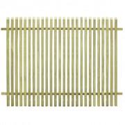 vidaXL Gard pentru grădină, lemn de pin tratat FSC, 170 x 125 cm