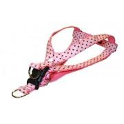 Sassy Dog Wear Arnés para Perro con Lunares Rosas y Marrones de 38 a 53 cm, tamaño pequeño