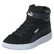 Puma Puma Vikky V2 Mid Fur V Ps Puma Black-puma White, Shoes, svart, EU 34