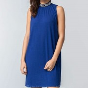 Bibi Chemnitz Rib Dress Blue
