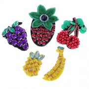 ELECTROPRIME® 5pcs/Set Pineapple Banana Patches Embroidered Applique Beads Patch Badge DIY