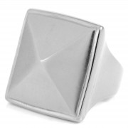 SteelCZ Pyramid Steel Ring
