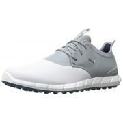 Puma Golf Men's Ignite Spikeless Pro Golf-Shoes, Puma White/Quarry//Puma Silver, 8 M US