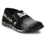 Shoe Rider Men's Black Canvas Casual Shoes