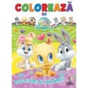 Coloreaza cu Baby Looney Tunes Dulciuri si jucarii