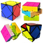 COMBO Fast And Smooth 3x3x3 Speed Rubik's Cube + Skewb Magic Cube Puzzle Toy Set