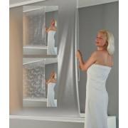 ECO Kassetten Duschrollo De Luxe Tropfen weiß, 134 cm - Seitenzug