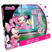 Set ceas digital si portmoneu, Minnie Mouse