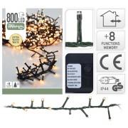 Svetlo vianočné 800LED teplá biela, micro cluster s funkciami, na 240cm stromček