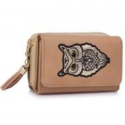 Dámská peněženka Sova LSP1080 - Nude Owl Design