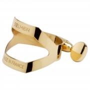 Selmer SM-B13NL Ligadura, dorada p. Boquilla de cauche Sax Tenor