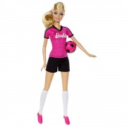 Papusa Barbie pot sa fiu Jucator de Fotbal