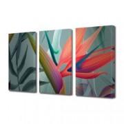 Tablou Canvas Premium Abstract Multicolor Frunze Colorate Decoratiuni Moderne pentru Casa 3 x 70 x 100 cm
