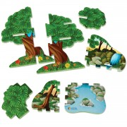 Joc de rol Jungla Jumbo Learning Resources, 2 animalute, 3 - 7 ani