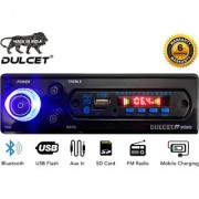 Dulcet DC-ST-9090 Fixed Panel Single Din MP3 Car Stereo with Bluetooth/USB/FM/AUX/MMC/Remote Control
