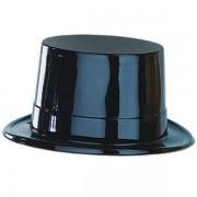 Hoge hoed zwart plastic