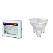 GU10 RGB+CCT 3 db-os Wifi smart izzó szett