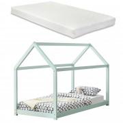 [en.casa] Dětská postel AAKB-8686M 90x200 cm mátově zelená