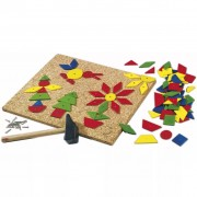 HABA 102 Piece Tap Tap Art Set Large Geo Shape 002310