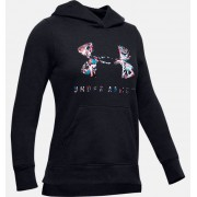 Under Armour Girls' UA Rival Print Fill Logo Hoodie Black YMD