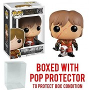 Funko Pop! Game of Thrones: GOT - Tyrion Lannister in Battle Armor #21 Vinyl Figure (Bundled with Pop BOX PROTECTOR CASE)