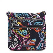 Vera Bradley Iconic Triple Zip Hipster, Signature Cotton, Butterfly Flutter
