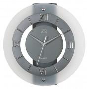 Luxusní skleněné tmavé nástěnné hodiny JVD N12.1
