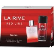 La Rive Red Line Men - zestaw, dezodorant, woda toaletowa
