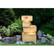 OEM D00141 Záhradná fontána - fontána so 4 kamennými žľaby, čerpadlom a osvetlením