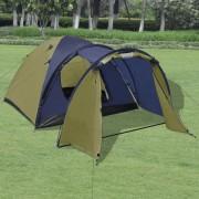 vidaXL 4 személyes sátor zöld