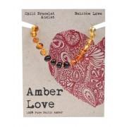 Baltic Amber Children's Bracelet - Rainbow Love 14cm