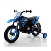 Brunte Blue Battery Operated kids Super Racing Bike like duke series with music and working headlight and rubber tyres