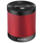 Portable Wireless Bluetooth Speaker Infinilla 4.0 Enhanced Bass Stereo Speakers for Home and Outdoor Built-in Microphone FM Radio 12 Hours Playtime (Red)