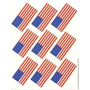 72 - US FLAG Stickers - PATRIOTIC USA Teacher Motivational Rewards EDUCATION Classroom Party Favors 4th of JULY by Just4fun