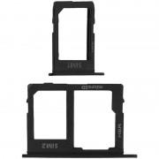 Avizar Repuesto Bandejas Tarjetas Nano SIM Negras para Samsung Galaxy J6