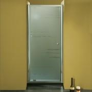 Porta doccia ad un battente 3304 da 92/99 cm in cristallo 8 mm Cromo Sabbiato Lampi